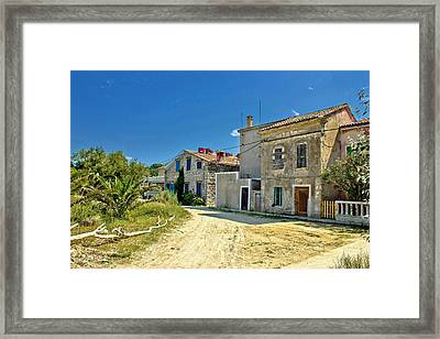 Old Streets Of Susak Island Framed Print