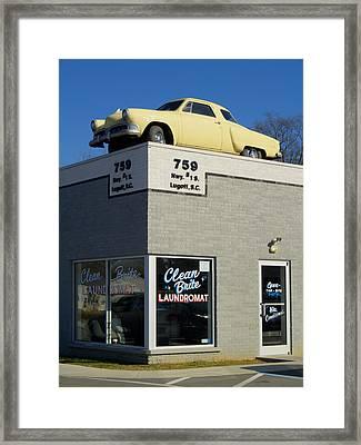 Old Studebaker Building Framed Print