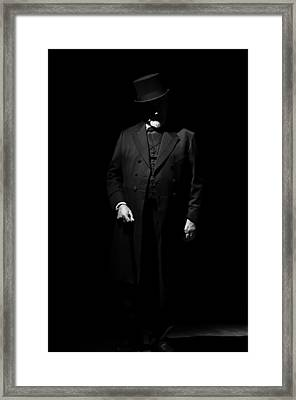 Vintage Gentlemen With Tall Hat - Style Has Not Deadline Framed Print
