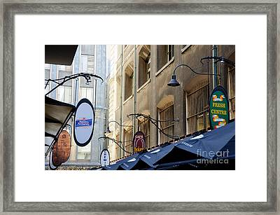 Old-style Signs Above A Melbourne Laneway Framed Print