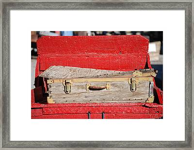Old Suitcase Framed Print by Pamela Schreckengost