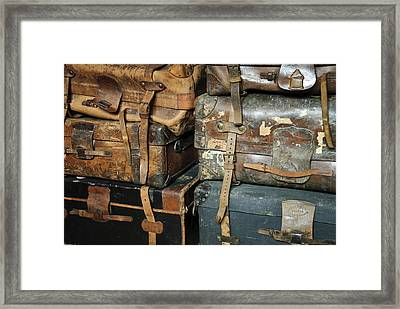 Old Suitcases Framed Print