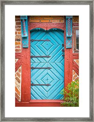 Old Swedish Door Framed Print by Inge Johnsson