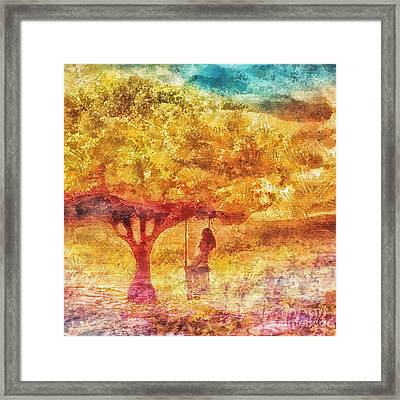 Old Swing Framed Print by Mo T