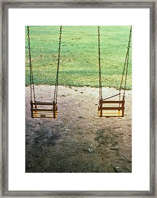 Old Swings In Brookdale Park Framed Print