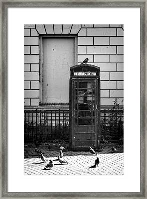 Old Telephone Box Framed Print
