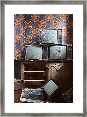 Old Television Framed Print