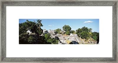 Old Temple In The Forest, Tikal Framed Print by Panoramic Images
