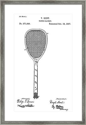 Old Tennis Racket Patent Framed Print