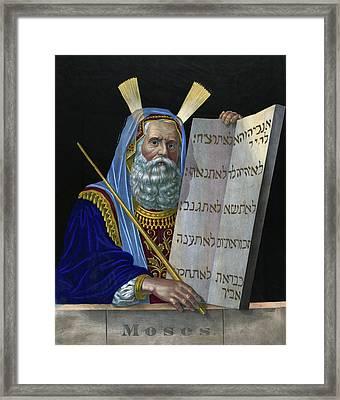 Old Testament Moses Framed Print