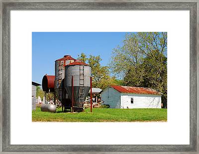 Old Texas Farm Framed Print
