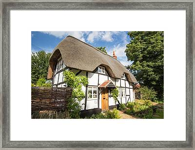 Old Thatched House In Elmley Castle Framed Print by Ashley Cooper