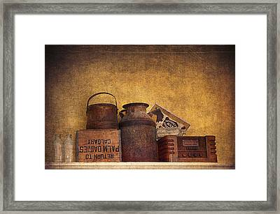 Old Things I Framed Print by Maria Angelica Maira
