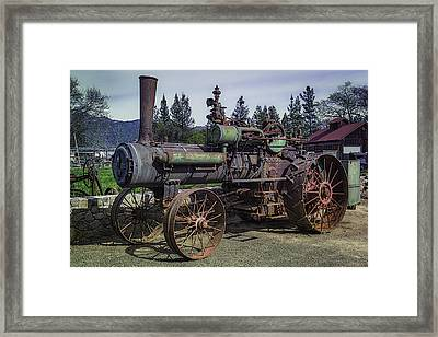 Old Threshing Machine Framed Print by Garry Gay