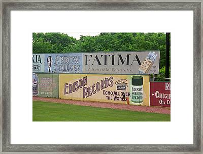 Old Time Baseball Field Framed Print by Frank Romeo