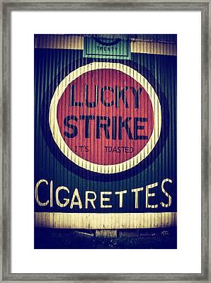 Old Time Cigarettes Framed Print
