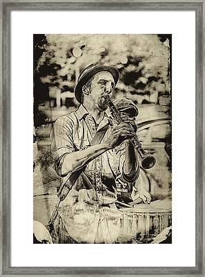 Old Time Clarinet Music Framed Print by John Haldane