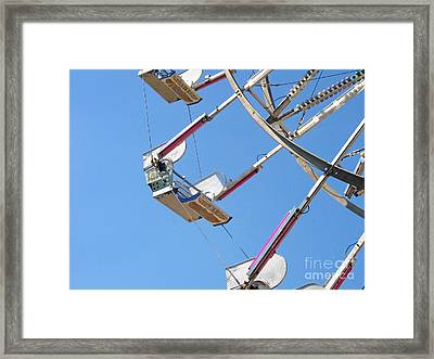 Old Time Ferris Wheel Framed Print by Ann Horn