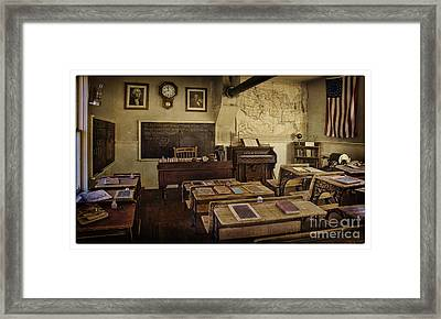 Old Time Learning Framed Print by Priscilla Burgers
