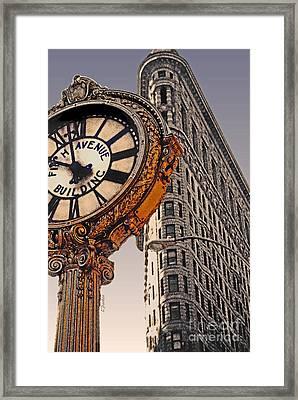 Old Time - Nyc Framed Print by Linda  Parker
