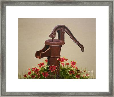 Old Time Pump Framed Print