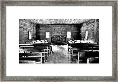 Old Time Religion -- Cades Cove Primitive Baptist Church Framed Print