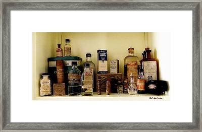 Old-time Remedies Framed Print by RC deWinter