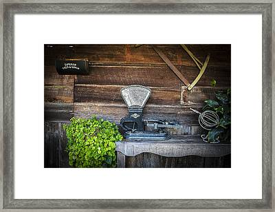 Old Time Scale Framed Print by Rich Franco