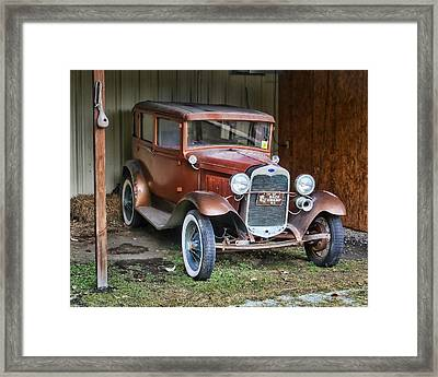 Framed Print featuring the photograph Old Timer II by Victor Montgomery