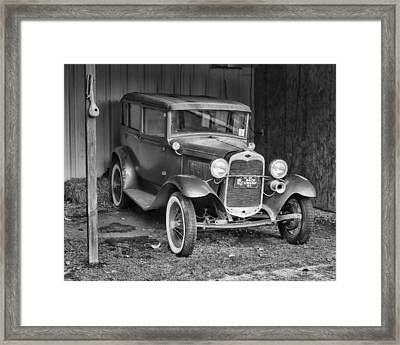 Framed Print featuring the photograph Old Timer by Victor Montgomery