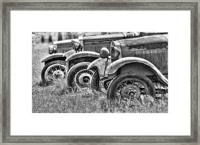 Old Timers Bw Framed Print by Naman Imagery