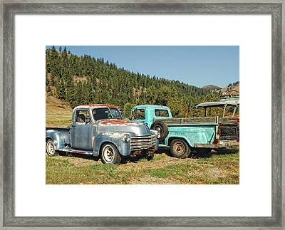 Old Timers Framed Print