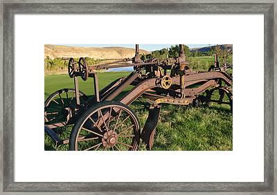 Old Timey Grader Framed Print