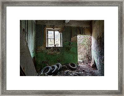 Old Tires Abandoned Places Framed Print