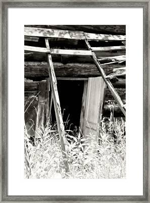 Old Tobacco Barn Framed Print by Michael Allen