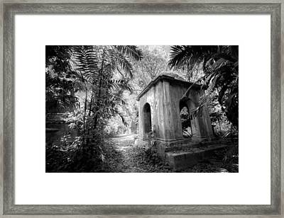 Old Tomb At Cemetery In Calcutta Framed Print by BJ Graf