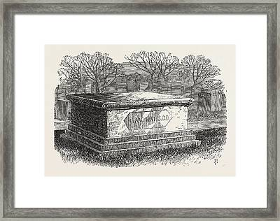 Old Tombs In Bunhill Fields Cemetery Dr Framed Print