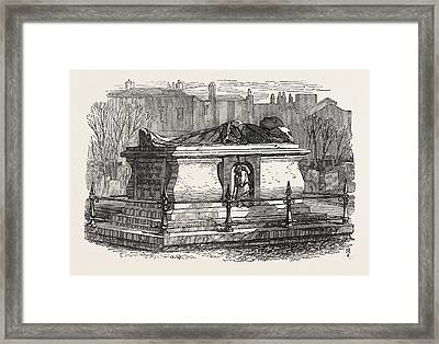Old Tombs In Bunhill Fields Cemetery John Bunyans Tomb Framed Print