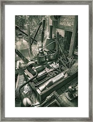 Old Tools Framed Print