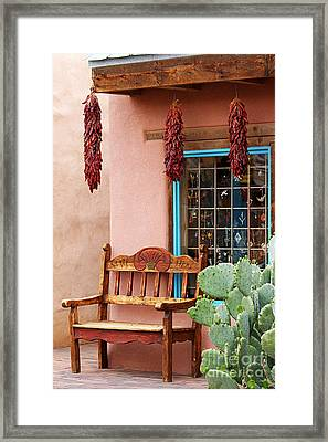 Old Town Albuquerque Shop Window Framed Print by Catherine Sherman