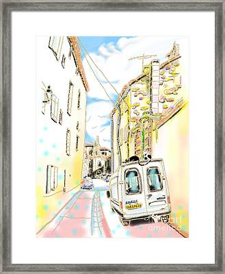 Old Town Alley Framed Print