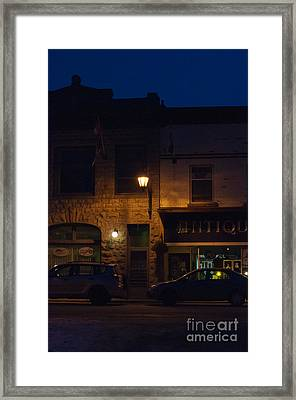Old Town At Night Framed Print by Cheryl Baxter
