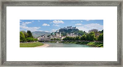 Old Town At Salzach River Framed Print by Panoramic Images