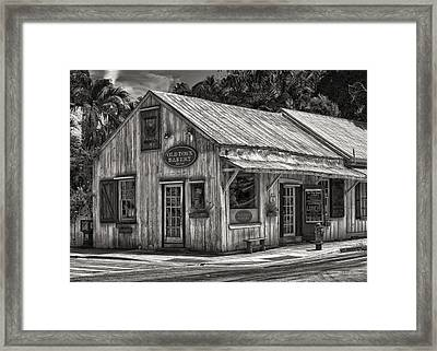Old Town Bakery - Key West - Circa 1877-1977 Framed Print