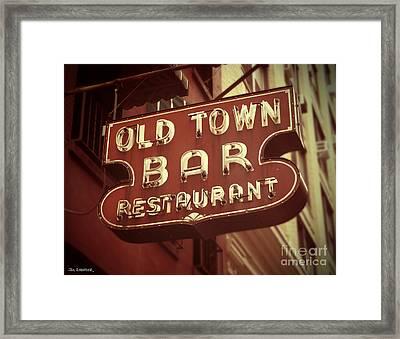 Old Town Bar - New York Framed Print by Jim Zahniser