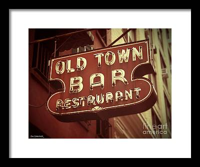 Old Town Bar Framed Prints