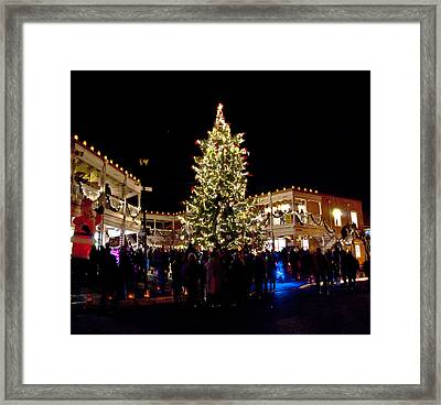 Old Town Christmas Tree Framed Print by Don Durante Jr