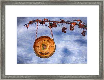 Verde Valley Wine Trail Framed Print by Priscilla Burgers