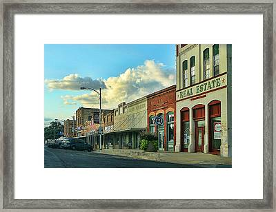 Old Town Elgin Framed Print by Linda Phelps