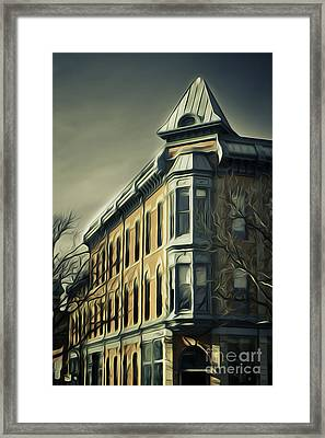 Old Town Fort Collins Framed Print by Julieanna D